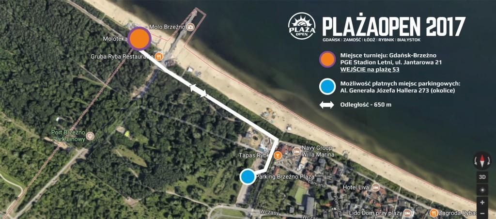 2017 Plaża Open Gdańsk - miejsce turnieju