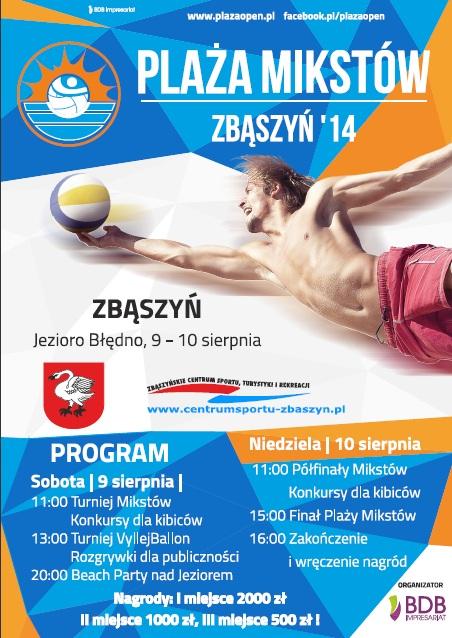 Plaża Mikstów 2014 - plakat