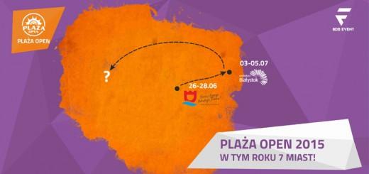 Białystok - mapa Plaży Open 2015