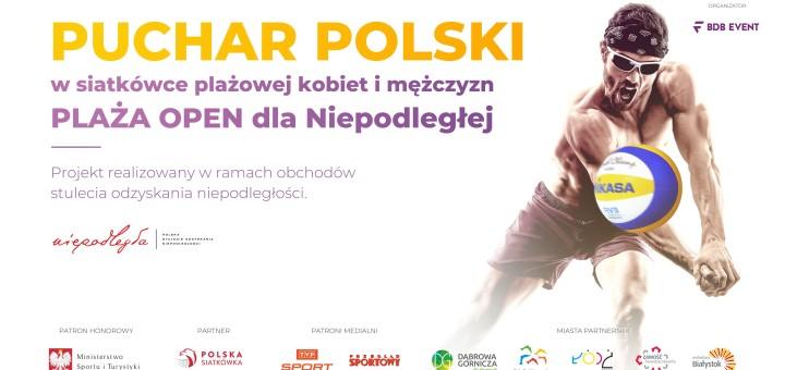 2018 Plaża Open - baner z Niepodległą